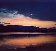 Osoyoos Sunset - Ominous Sky by Shawnna Taylor