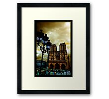 Notre Dame Cathedral Stands Strong Framed Print