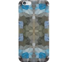 Abstract Mosaic in Cool Silver Blue Brown iPhone Case/Skin