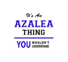 It's an AZALEA thing, you wouldn't understand !! by allnames