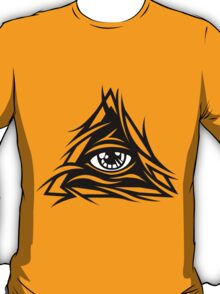 Illuminati Black - Trippy - Simple T-Shirt