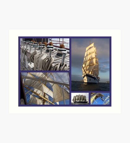 Sailing collage Art Print