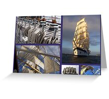 Sailing collage Greeting Card