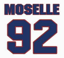 National football player Dom Moselle jersey 92 by imsport