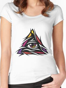 Illuminati Color - Trippy - Simple Women's Fitted Scoop T-Shirt