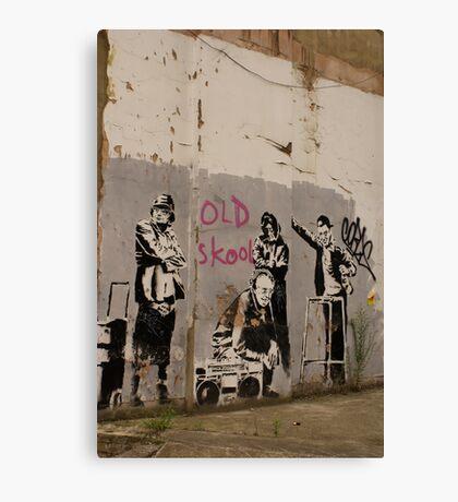 Old Skool - Banksy Canvas Print