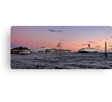 Sunset Over Station Pier  Canvas Print
