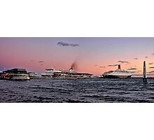 Sunset Over Station Pier  Photographic Print