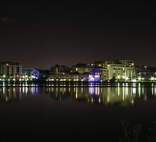 Night shot of Newington from Rhodes by jfdigital88