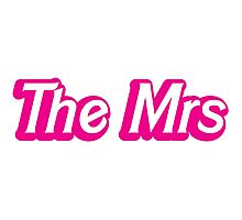 THE MRS funny bride wife design Photographic Print