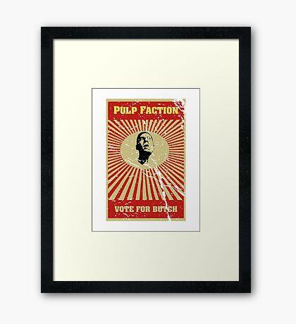 Pulp Faction - Butch Framed Print