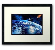 C.E. Earth Threat Framed Print