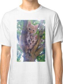 Kittens on a tree. Classic T-Shirt