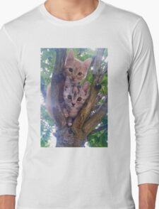 Kittens on a tree. Long Sleeve T-Shirt