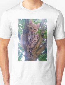 Kittens on a tree. Unisex T-Shirt