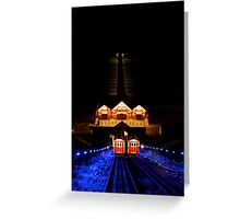 Saltburn cliff lift, and pier. Greeting Card