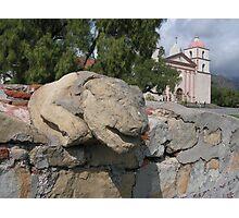 Stone lion -- Mission Santa Barbara Photographic Print