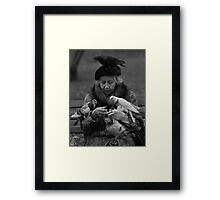 Bird Lady of Central Park NYC Framed Print