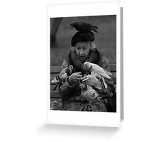 Bird Lady of Central Park NYC Greeting Card