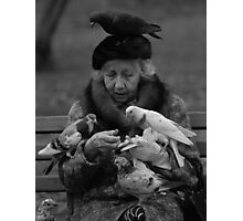 Bird Lady of Central Park NYC Photographic Print