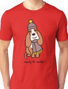 Ready To Walk! Basset Hound Unisex T-Shirt