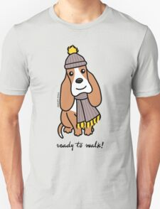 Ready To Walk! Basset Hound T-Shirt