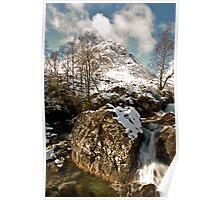 Buachaille Etive Mor In Winter Poster