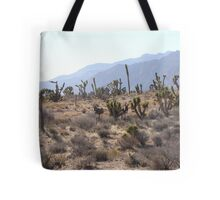 Joshua Trees and Burros at Red Rock Tote Bag