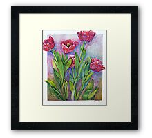 Tulips with love... Framed Print