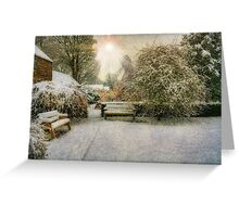 Magical Snowy Garden Greeting Card