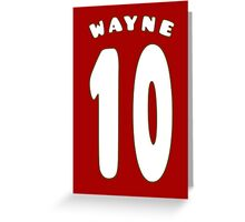 Wayne Rooney Style 10 (2) Greeting Card