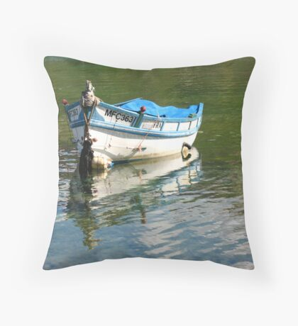 Small Fishing Boat Throw Pillow