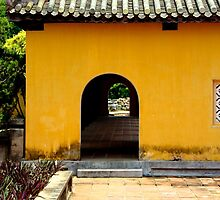 Glimpse of the Imperial City VI - Hue, Vietnam. by Tiffany Lenoir