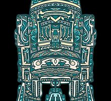 R2D2 Blue Abstract by UraniumSnap