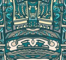 R2D2 Blue Abstract Sticker