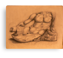Drawing of Hercules Bust-Louvre Canvas Print