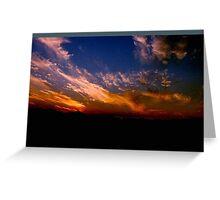 sunset mojave desert Greeting Card