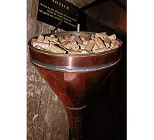 Cork Funnel Photographic Print