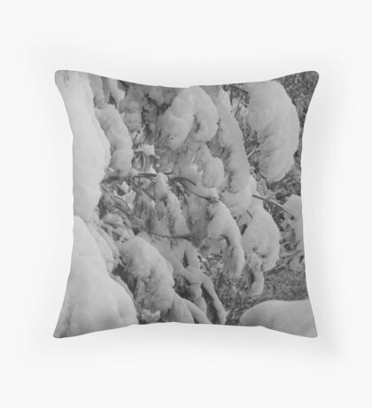 white trees Throw Pillow