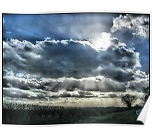 Clouds and sun Poster