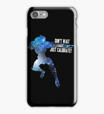 Mass Effect Silhouettes, Garrus - Don't Wait, Just Calibrate! iPhone Case/Skin