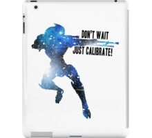 Mass Effect Silhouettes, Garrus - Don't Wait, Just Calibrate! iPad Case/Skin