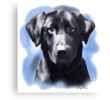 Black Lab Portrait Canvas Print