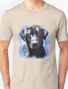 Black Lab Portrait Unisex T-Shirt