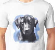 Black Lab Portrait Unisex T-Shirt