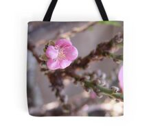 "Peach trees are blooming in So. California!  ""We're in the pink"" LOVES IT! Tote Bag"