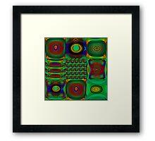 Green Combo Framed Print