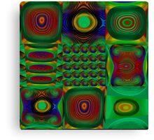 Green Combo Canvas Print