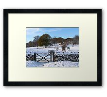 Snowy Gloucestershire England UK Framed Print