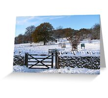 Snowy Gloucestershire England UK Greeting Card